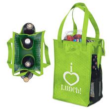 Non Woven Snack Picnic Double Wholesale Cooler Tote Wine Bottle Bag
