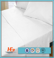 Cheap Price Single Size 100% Polyester Pure White Bed Sheet Set