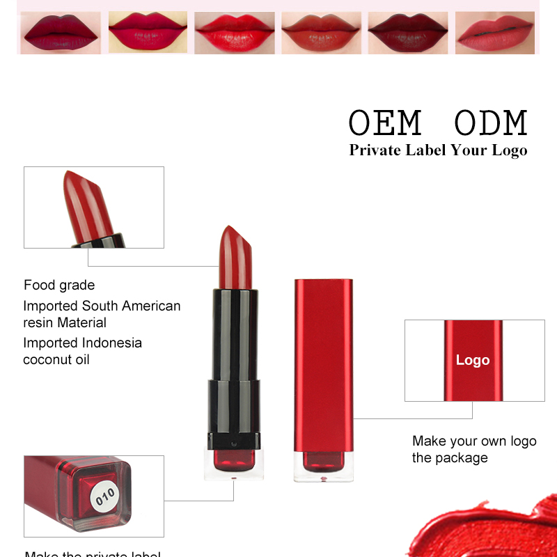 Wholesale Waterproof Your Logo Lipgloss Tube Liquid Matte Lipstick