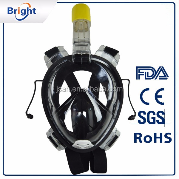 China manufacture snorkel mask anti fog full face diving mask with CE certificate