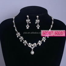 wedding alloy choker delicate simple diamond necklace set
