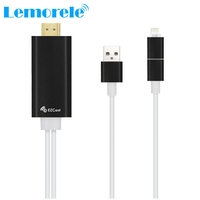 Hot selling EZ Cast EZcast m2 Lightning to HDMI Cable adapter Wire Display Miracast Dongle