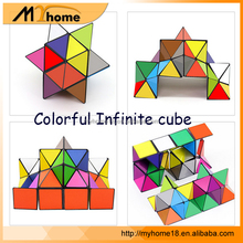 New hot sale colorful infinite cube toy Magnetic Cube Education Toys, infinite fidget foldable cube toys for kids