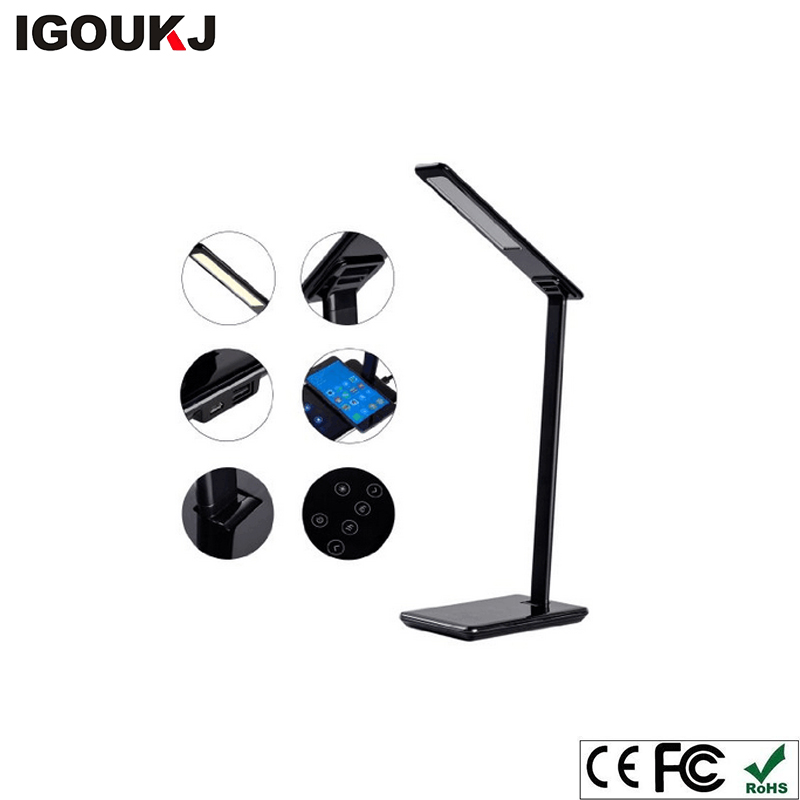 Free shipping Oem Qi smart mobile phone accessories portable universal led desk lamp wireless charger