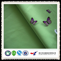 anti-static 100 polyester material print fabric with pongee garments