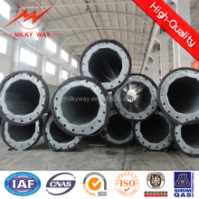 hot dip galvanization steel power pole for electrical transmission