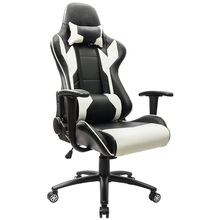 Executive Swivel Leather Gaming Chair, Racing Style High-back Office Chair With Lumbar Support and Headrest