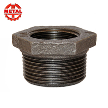 bsp npt din cast black galvanized malleable iron pipe and fitting joint bushing product