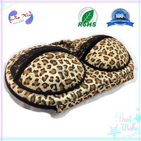 Fashion design leopard-print color EVA package / case / bag for Bra garment