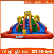 New Spongebob Inflatable Floating Water Slide