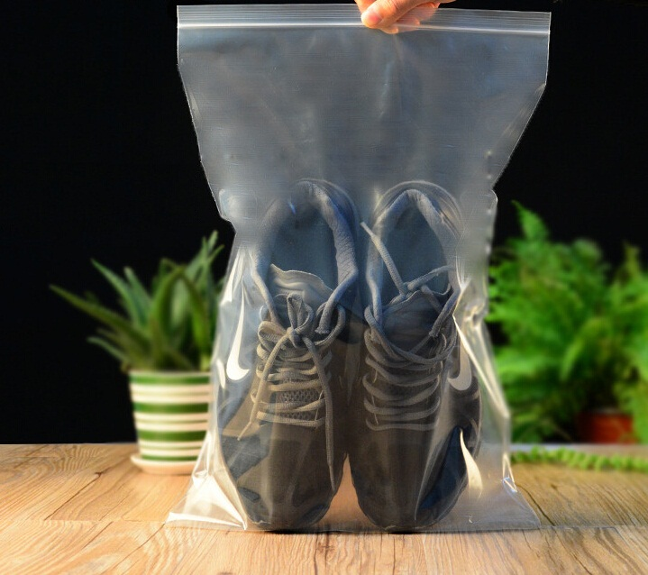 Size 26*38cm Clear Reuseable zip lock plastic bags for plants flexible plastic <strong>rice</strong> packag bags for shoes packaging