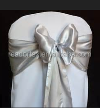 SGS Ivory Satin Chair Sash Used In Banquet Chair