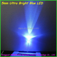 5mm Ultra Bright blue led ( 11000-14000mcd )/ever bright led ( CE & RoHS Compliant )