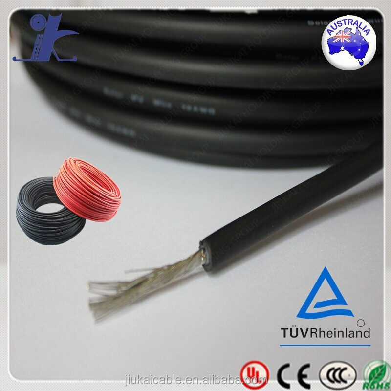 Made in Jiukai 2x6mm2 /4mm2 Twin core /awg Solar PV cable(TUV Approved)