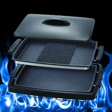1300W Non-stick Electric Cooking Plate Cast Iron BBQ Grills