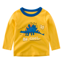 100% cotton <strong>boy's</strong> long sleeve t shirt