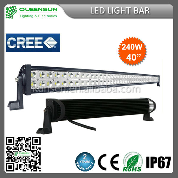 40 inch 240W amber led work light bar with CE & ROHS