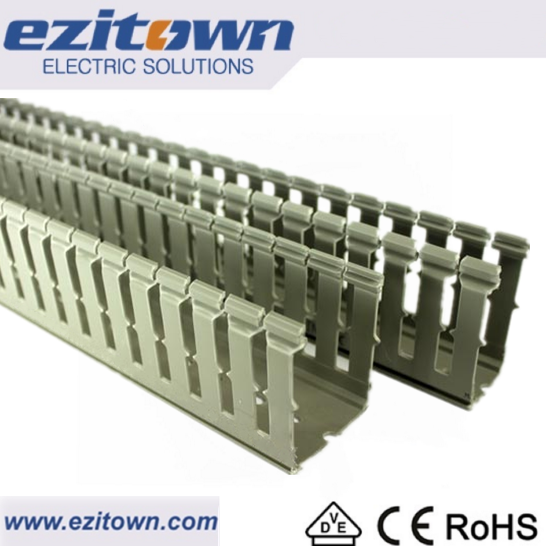 Different size PVC cable trunking with high quality Floor Slotted cable trunk