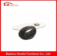 Fashion Cheap Price Small Classic Elegant Smoked Glass Modern Design Glass Center Table