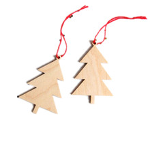 High quality Wooden christmas tree ornaments