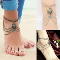 1pcs Summer Multilayer Chain Ladies Turquoise