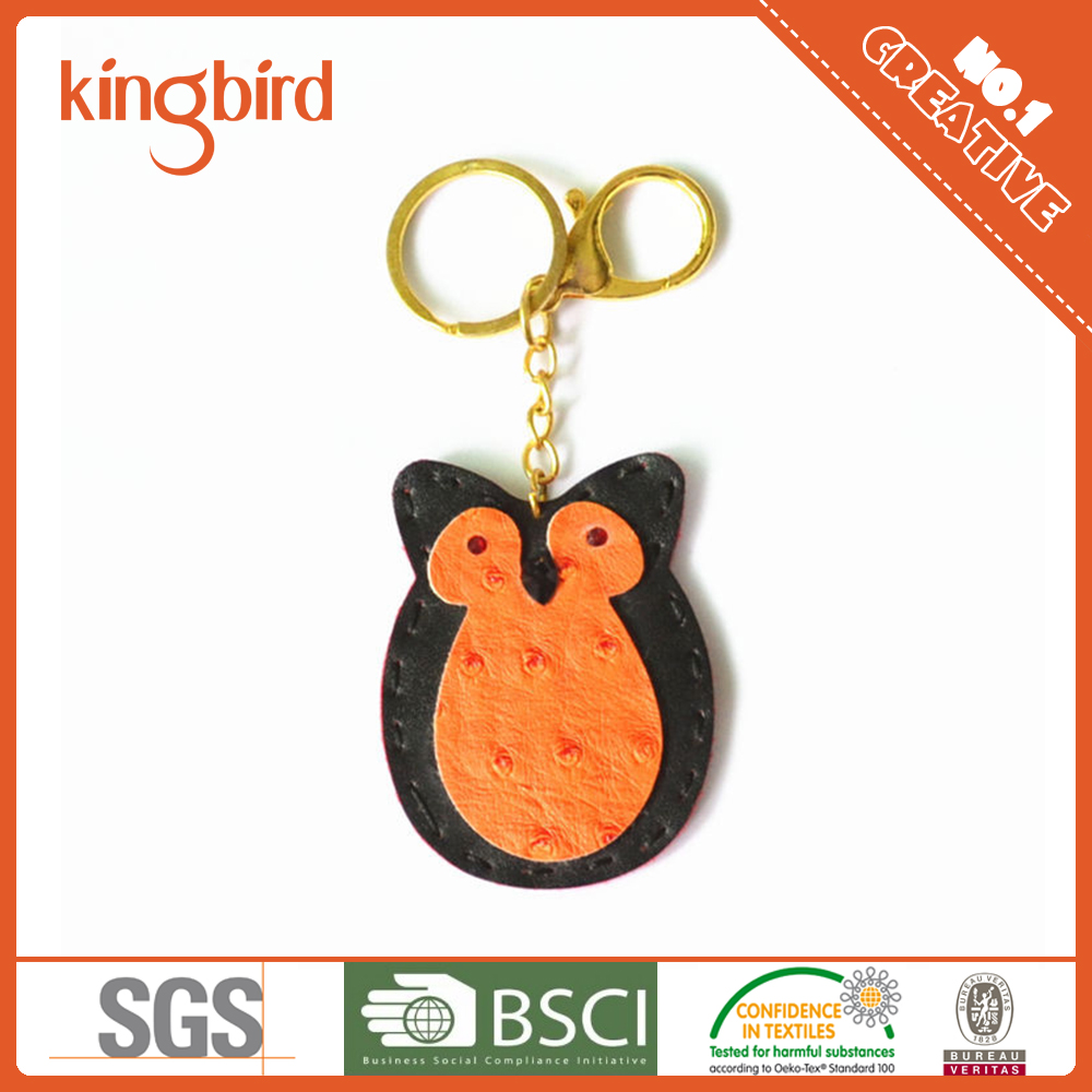 Best Selling Halloween Cartoon Handicrafts Leather Animals Keychain Owl Key Chain