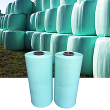 Round roll stretch wrap white /green silage wrapping film