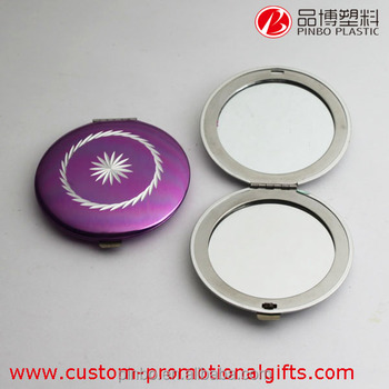 Compact Mirrors Wholesale Purple Folding Pocket Mirrors