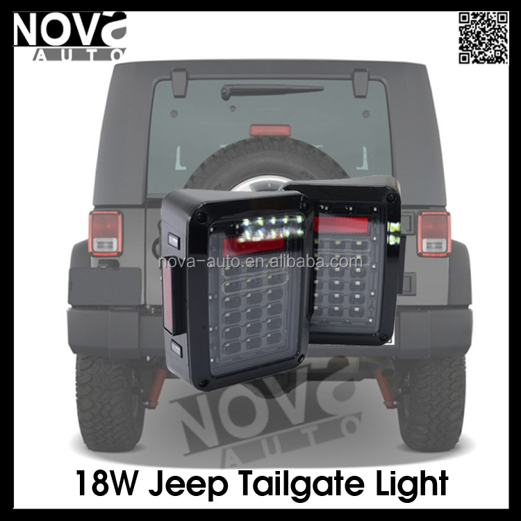 Jeep Wrangler Accessories LED Lamp Type 12V Voltage Tail Light For Jeep Wrangler One Year Warranty
