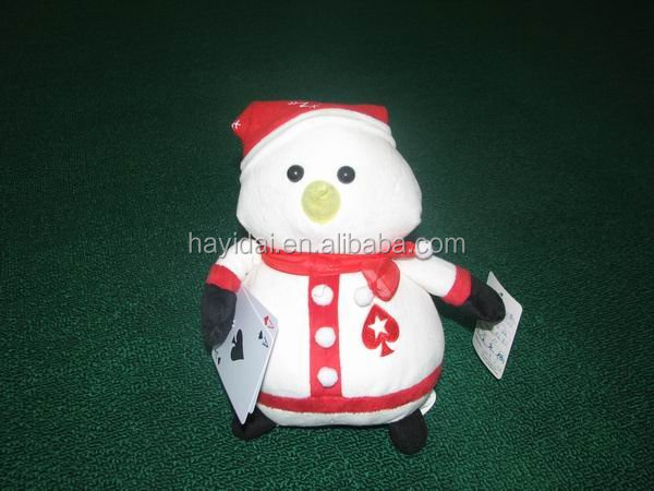 2015 christmas singing and dancing plush toy snowman santa clausa stuffed toy