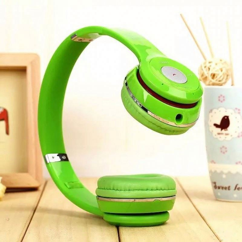 Sports retractable bluetooth headset bests studio wireless headphone with mp3 player