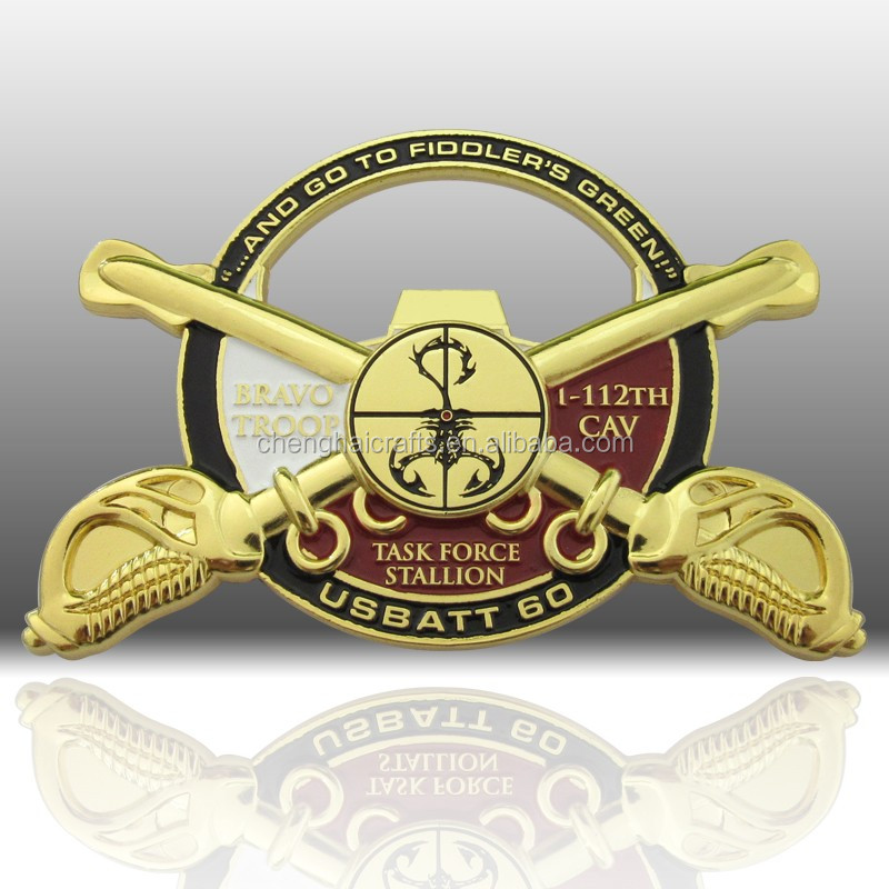custom personalize metal challenge supplier coin