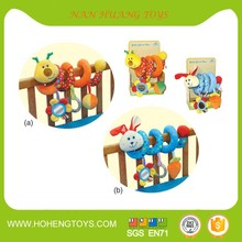 Baby Infant Rattles Plush Animal Stroller Hanging Bell Educational Toy Doll Soft Bed