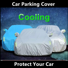 Folding silver avoid sun and rain protect parking Car Cover for Hyundai
