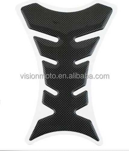 Hot sale high quality Rubber material carbon style motorcycle tank pad motorcycle accessories and parts VM04-002