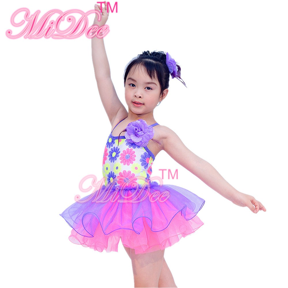 Lovely Flower Girl Dresses Party Dresses Organza Ballet Tutu Dance Dress For Kids