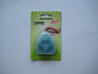 Daily use triangle shape colored green dental floss for oral care