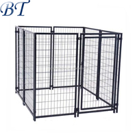 New product low price galvanized dog run fence/metal dog kennel/pet cage