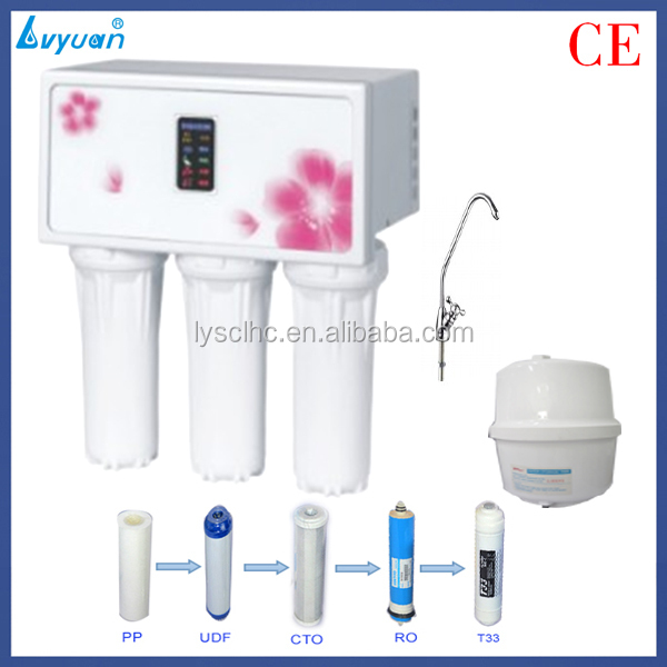 TDS type micro computer control 5 stage reverse osmosis water filter system price