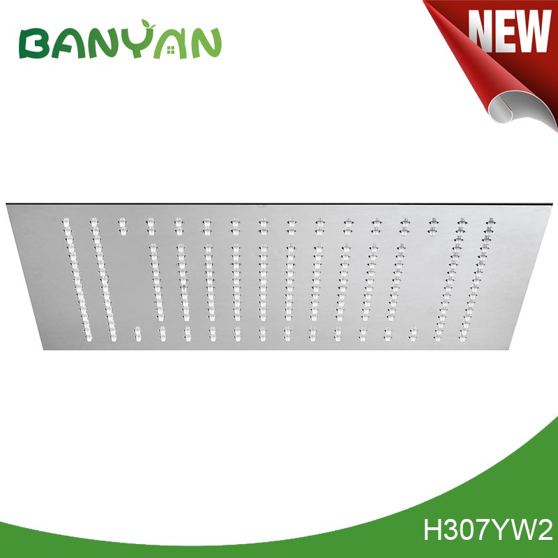 Hot and cold shower head with led light