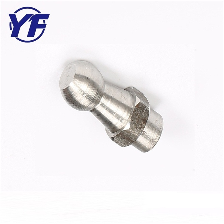 Ball head hex solid nut and bolt , cnc lathe aluminum part , decorative spare parts for furniture
