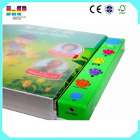 Custom high quality funny baby sound book,Children music book printing service
