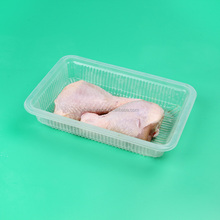 Transparent Plastic disposable Frozen Food Tray Plastic Chicken Meat Packing Trays Clear Food Packaging Box