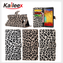 Mobile Phone Good PU Leather Case For Samsung Galaxy Note 5 Leopard Pattern Leather Case