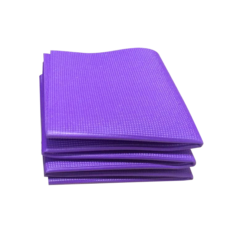 72 X 24 Inches non toxic non slip folding pvc yoga mat gym fitness exercise