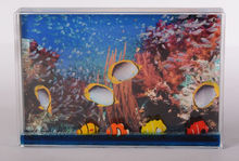 "oceanic style 4""*6"" standing blue photoframe fish floater photo frame"