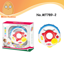 Educational & Early Learning Plastic Baby Rattles Musical Light Playing Drum Toy For New born