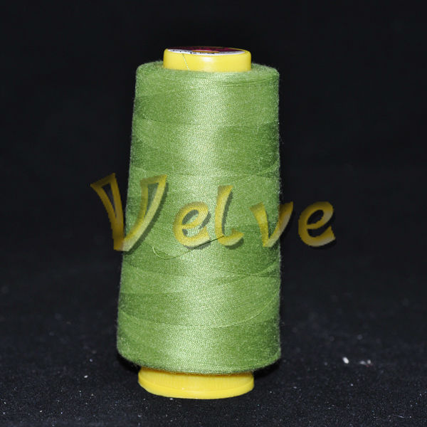 60/2 raw white poly poly core spun thread for shoes