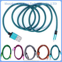 2015 hottest lustrous 2 in 1 data cable auto data link cable data usb cable For Samsung Android Smartphone