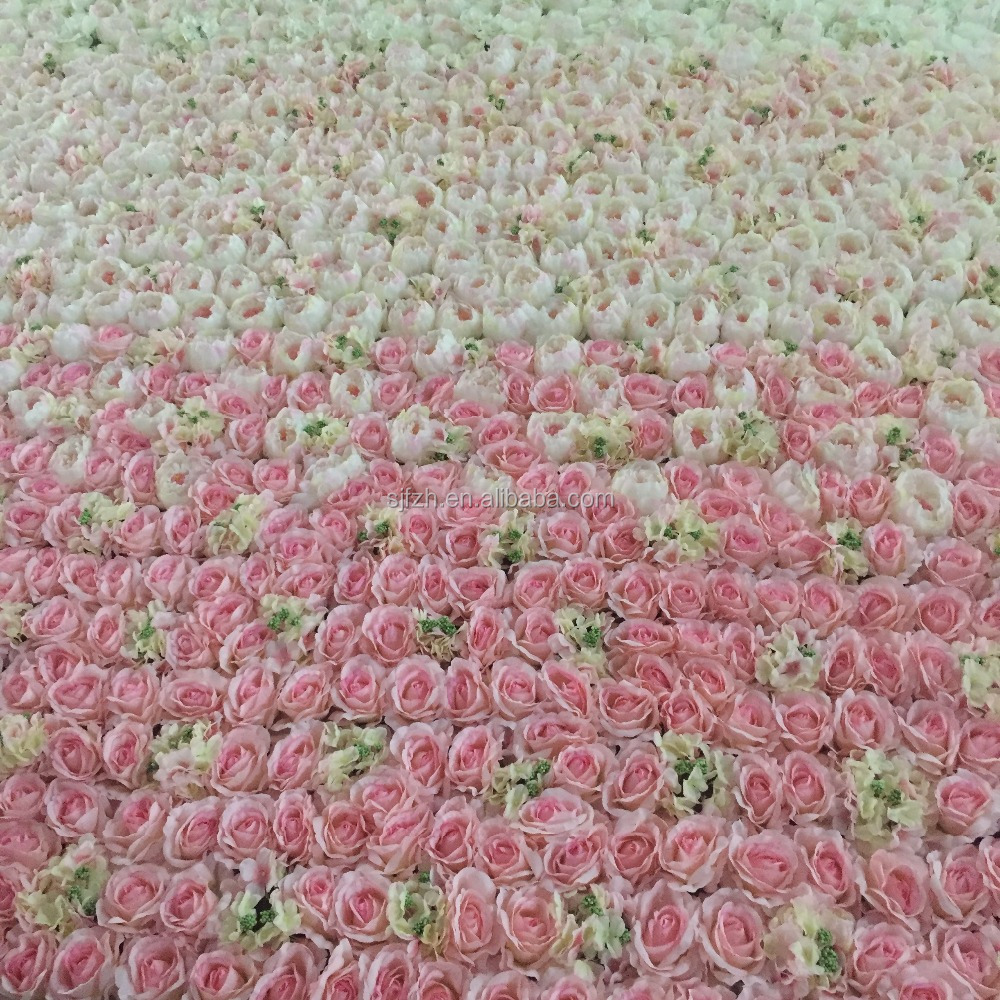 pink rose and white hydangea ,pink penoy blossom flower wall for wedding stage decoration